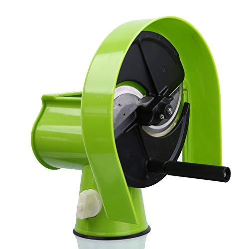 YAOBAO Multifunktions Hand Slicer, Schneidemaschine Von Obst Und Gemüse, Home Kitchen Tools, Kommerzielle Hand Slicing, Spart Zeit Und Aufwand Slicer Grün -