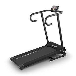 Klarfit Pacemaker X1 Laufband • Heimtrainer • Hometrainer • 500 Watt Leistung • Geschwindigkeit: 1 - 10 km/h • Trainingscomputer • LCD-Display • Magnetchip Entsperrung • Lauffläche 34 x 100 cm • max. 120 kg • zusammenklappbar • schwarz