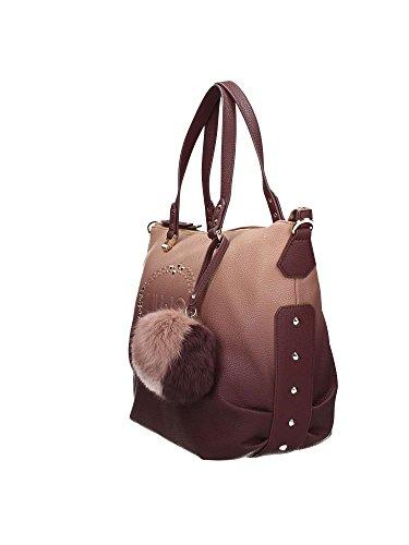 LIU JO LUCCIOLA SHOPPING BAG N66019E0027 GRIGIO/BORDEAUX