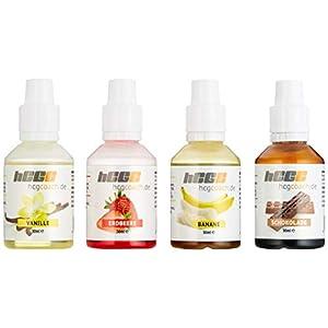 hcgcoach.de Aromatropfen / FlavDrops zum süßen und aromatisieren zum Sparpreis, 4 Sorten