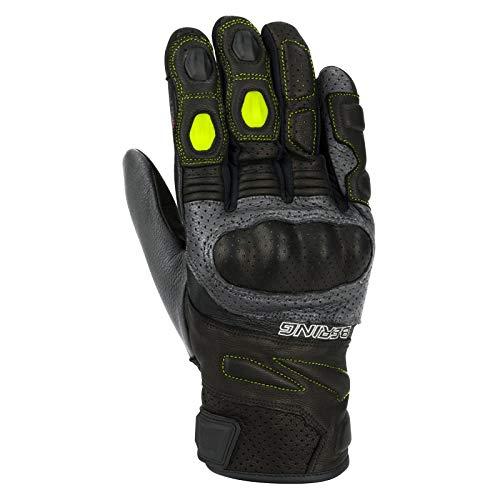 Bering - Coppia di guanti da moto, colore: Grigio
