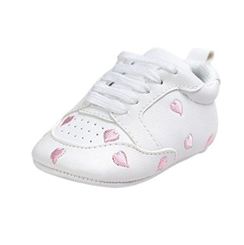 Baby Schuhe Auxma Für 0-18 Monate,Baby-Mädchen-nette Kleinkind-weiche alleinige lederne Schuhe (13cm(12-18M), Bunt) Rosa