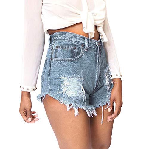 Femmes Vintage Taille Baisse Denim Shorts Chaud Jeans Pants Été Punk Rock Troué Bandage Pantalons Courtes