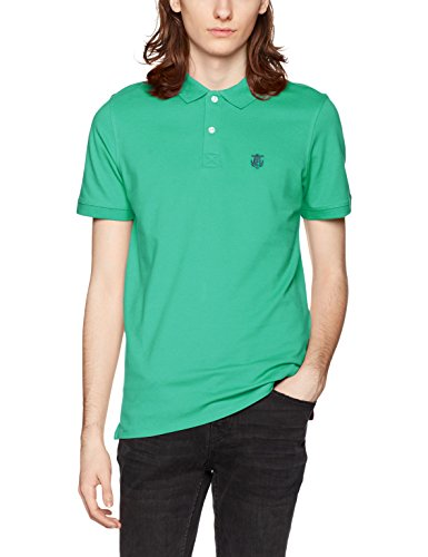 SELECTED HOMME Herren T-Shirt Shharo SS Embroidery Polo NOOS Türkis (Peacock Green)