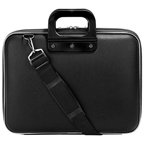 Notebook-Tasche mit Schulterriemen für 25,1-39,6 cm (10,1-15,6 Zoll) schwarz schwarz 13.3-14 Inch