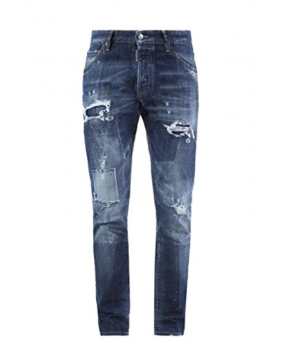 dsquared cool guy Dsquared² Herren Jeans Slim Leg COOL GUY JEAN S74LB0115 S30144, Farbe: Blau, Größe: 48