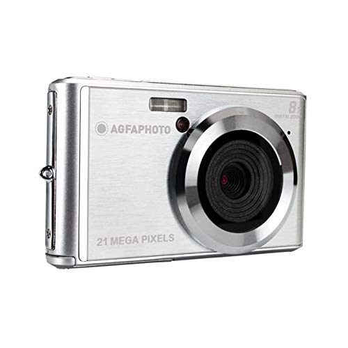 AGFA Photo - Kompakte Digitalkamera mit 21 Megapixel CMOS-Sensor, 8X Digitalzoom und LCD-Display Silber -