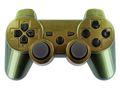 Enigma Silver Lime Gold PS3 Modded Controller