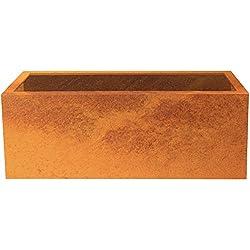 Palatino Exclusive Line Hochbeet/Pflanzkübel Lotte aus Corten-Stahl 150 x 40, Tiefe 50 cm, Modular