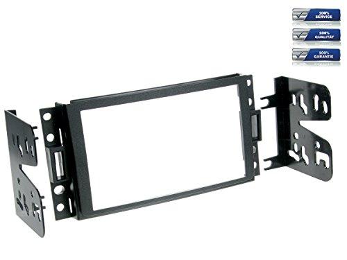 Preisvergleich Produktbild Doppel-DIN Radioblende für Chevrolet Corvette / Uplander und Hummer H3 Bj. ab 2005 *schwarz*