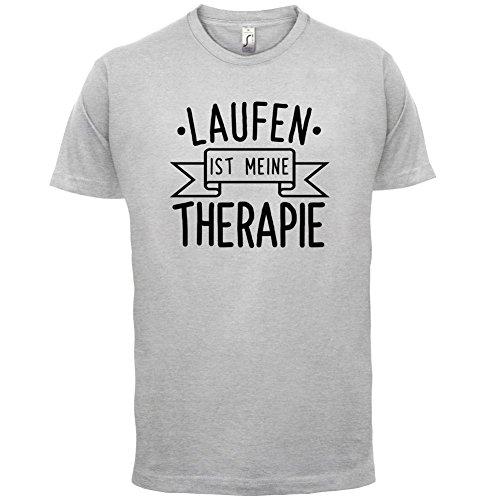Laufen ist meine Therapie - Herren T-Shirt - 13 Farben Hellgrau