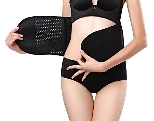 Aivtalk Damen Bauchweg Gürtel Nach Geburt Re-Shaping Slimming Belt Schlankheits-Gürtel Figurformend Elastisch Bauchband Gurt Schwarz