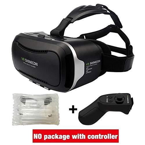 IN THE DISTANCE Karton VR VR Box 2.0 Virtual Reality Brille 3D Brille Für 4,5~6,0 Zoll Smartphones (Color : with Box controllerB) - 56 Brillen