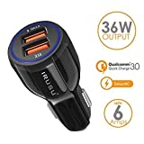 Irusu 6.0 Amp Dual USB Fast Car Charger with Qualcomm Quick Charger QC