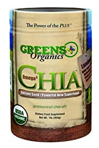 Greens Plus, Chia, Omega 3, 1 lb (454 g)