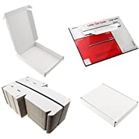 50 postales blancos C6 tamaño A6, tamaño grande, de cartón resistente, para envíos de cartón, 16 cm x 12 cm x 2,2 cm, envío rápido.