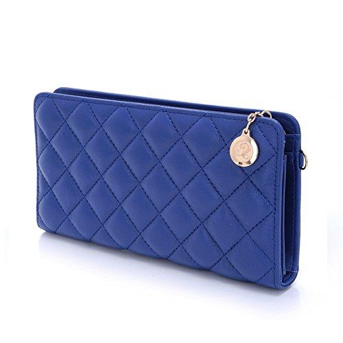 European fashion diamante blu Plaid lunga borsa della signora/ e multi-funzionale clutch bag-A A