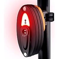 AOOKEY Candado de Bicicleta Plegable con luz led Trasera USB Recargable Bicicleta con Soporte, 85cm, Negro