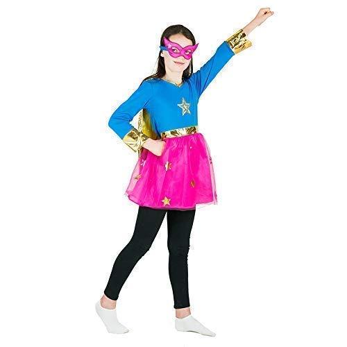 Bodysocks® Superheld Kostüm für Mädchen (6-8 Jahre) (Maskottchen Kostüm Mädchen)