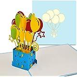PaperCrush® Carte Pop-Up Anniversaire - Parfait comme carte cadeau d'argent pour l'anniversaire - Carte de voeux 3D faite à la main, avec l'enveloppe