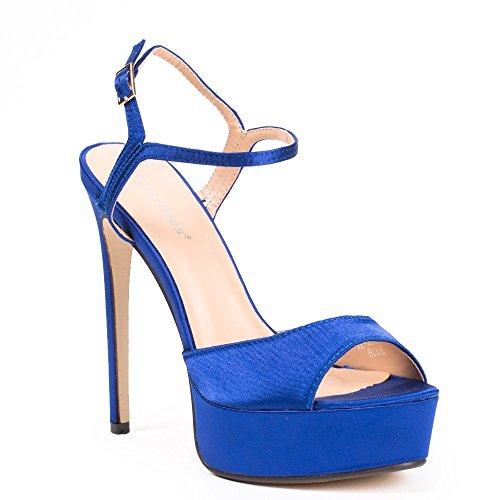 Scarpe Blu Con Ideali Flange Floraline Scarpe P0xwUS