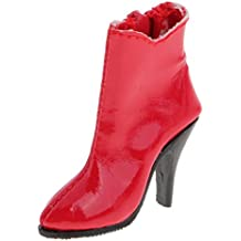 MagiDeal 1/6 Escala Femenino Botines Zapatos de Tacones Altos para 12 Pulgadas Figura de