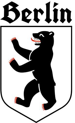 ca. 8 x 5 cm - Konturschnitt - Autoaufkleber Berlin mit Schriftzug Sticker Aufkleber fürs Auto...