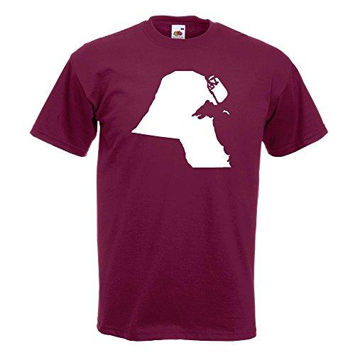 Kiwistar Kuwait Umriss Kontur T-Shirt in 15 Verschiedenen Farben - Herren Funshirt Bedruckt Design Sprüche Spruch Motive Oberteil Baumwolle Print Größe S M L XL XXL