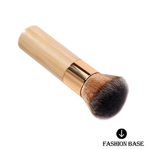 Fashion Base® Maquillage en bambou Grand Polissoir Fond de teint Brosse Cosmétique professionnelle Make Up visage Poudre Pinceaux Kits