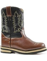 Botas Western Pro-Tech West, Modelo Roping de piel bicolor, Cowboy, Umbria, equitación botas piel, Caballo, Caballos, 42
