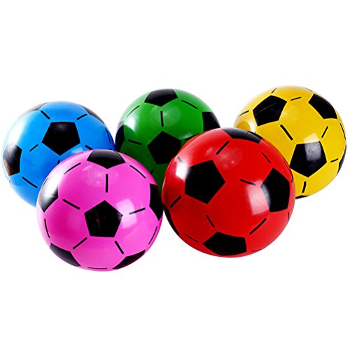 TOYMYTOY Aufblasbar Fußball Ball Spielzeug für Baby Kinder Party Deko 10 STÜCKE (Zufällige Farbe)