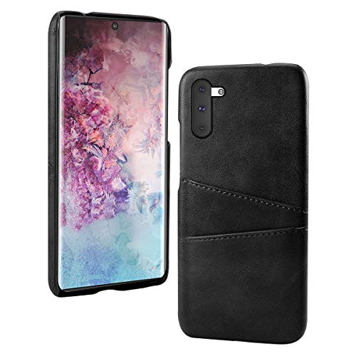 Obamono Card Holder Case Fit for Samsung Galaxy Note 10, Samsung Galaxy Note 10 Back Shell Accessory Wallet Case Slim Folio Leather Case Cover Shockproof Case with Card Slot, Durable