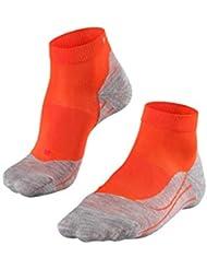 FALKE Ru4 - Calcetines Cortos de Running para Mujer, Mujer, 16706, Samba Orange (8182), 37-38