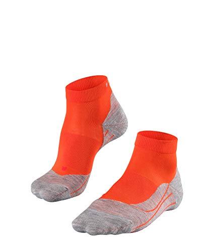 FALKE Damen RU4 Short Runningsocken, Samba orange, 37-38