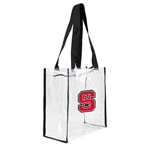 ncaa-north-carolina-state-wolfpack-square-stadium-tote-115-x-55-x-115-inch-clear-by-littlearth