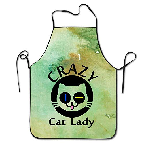 Cat Lady Party Kostüm Crazy - HTETRERW Best Gift Crazy Cat Lady BBQ Kitchen Cooking Apron