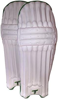 Totalmente prueba de críquet bateador de críquet almohadillas/protectores de pierna, para hombre, diestros