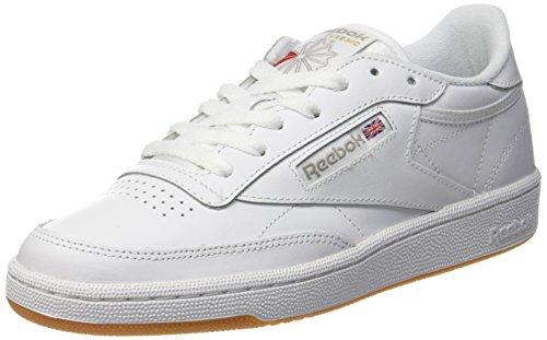 Reebok Club C 85, Scarpe da Ginnastica Basse Donna, Bianco (White/Light Grey), 38.5 EU