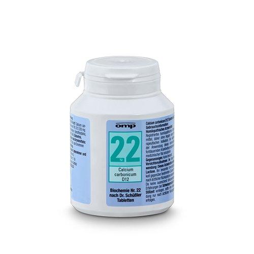 Schüssler Salz Nr. 22 Calcium carbonicum D12 - 400 Tabletten, glutenfrei