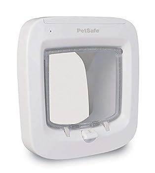 PetSafe - Chatière à Puce Électronique pour Chat avec Micropuce, Entrée Sélective, Facile à Installer - Blanc