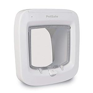 Chatière à Puce Électronique pour Chat PetSafe - Facile à Installer - Blanc