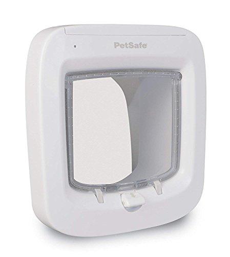 PetSafe - Chatière à Puce Électronique pour Chat avec Micropuce, Lecteur de Micropuce Amélioré Entrée Sélective, Facile à Installer