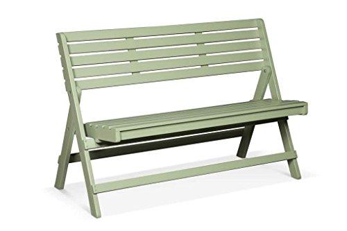 Lanterfant - Gartenbank Cees, Vintage Green, zusammen klappbar, 2-sitzen, Balkon, 118x59x78 cm (Grün)
