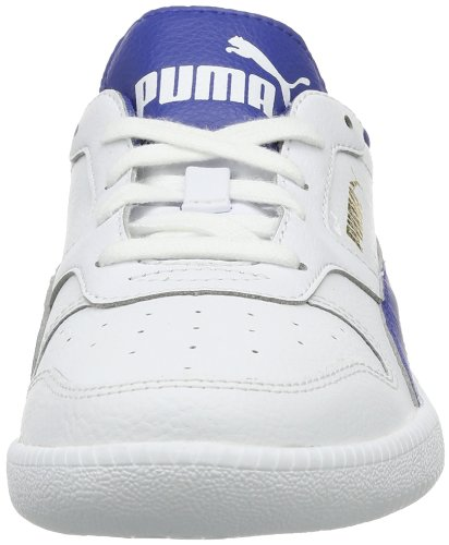Puma Icra Unisex-Kinder Sneakers Weiß (white-monaco blue-team gold 02)