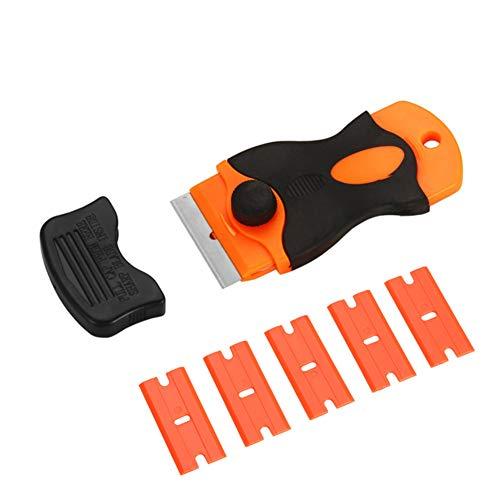 Loca UV-Klebstoffentferner, Schaber, Messer + 5 Kunststoff-Klingen für Handys, LCD-Bildschirme, Klebereinigungsset