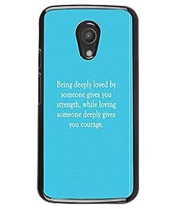 Fuson 2D Printed Quotes Designer back case cover for Motorola Moto G2 2nd Gen. - D4574