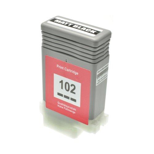 Tintenpatrone PFI-102 für Canon Imageprograf IPF 500 5100 600 6000 605 610 650 655 700 710 750 755 760 765 S L MFP M 40-0894B001 - Matt Schwarz 130 ml (605l-serie)