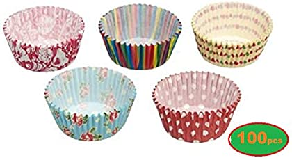 hpk Greaseproof Silicone Cake Cups (3inch, Multicolour)