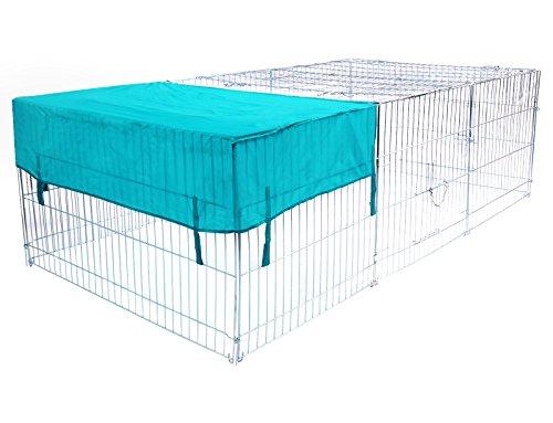 WOLTU Freigehege 180 * 120 * 60 cm Freilaufgehege Kaninchen Hasen mit Abdeckung Sonnenschutz Freilaufgitter Verzinkt HT2066m2
