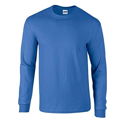 Gildan Ultra Cotton Pullover (Gildan - Langarm T-Shirt Ultra '2400' / Royal, M M,Royal)